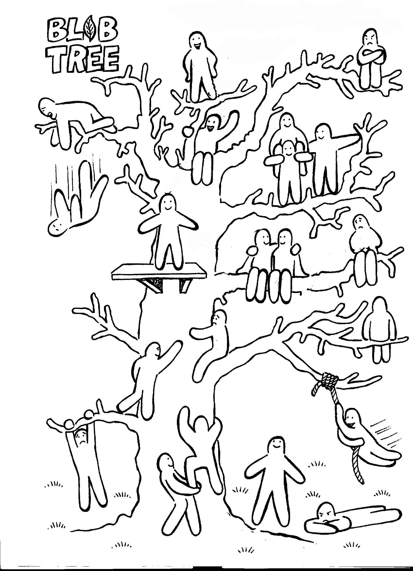 Психологическая картинка с человечками на дереве