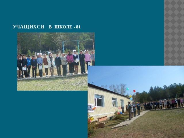 Учащихся в школе - 81