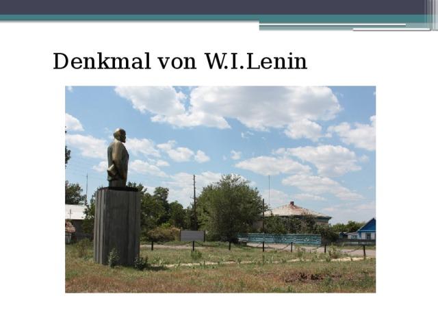 Denkmal von W.I.Lenin