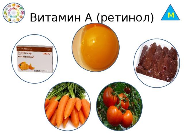 М Витамин А (ретинол)