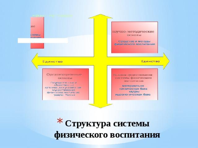 Структура системы физического воспитания