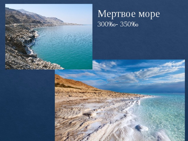 Мертвое море  300‰- 350‰