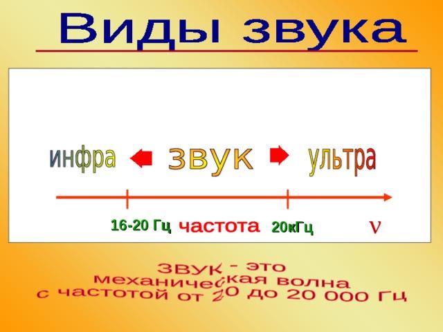 ν 16-20 Гц  20кГц
