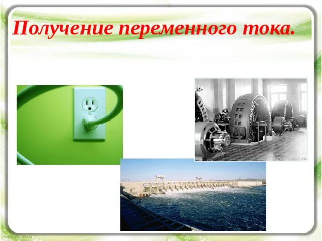 Получение переменного тока.