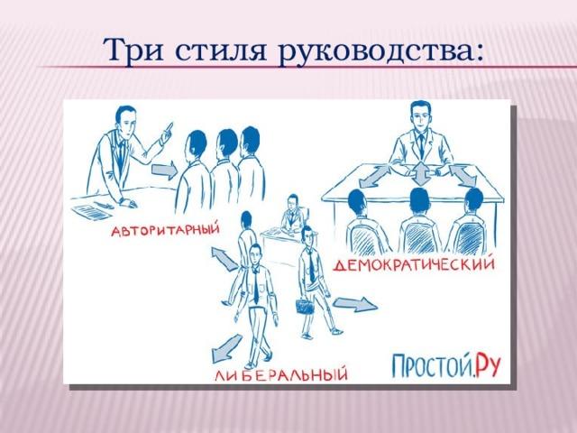Три стиля руководства: