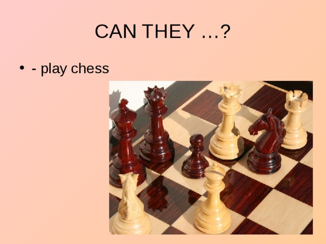 - play chess