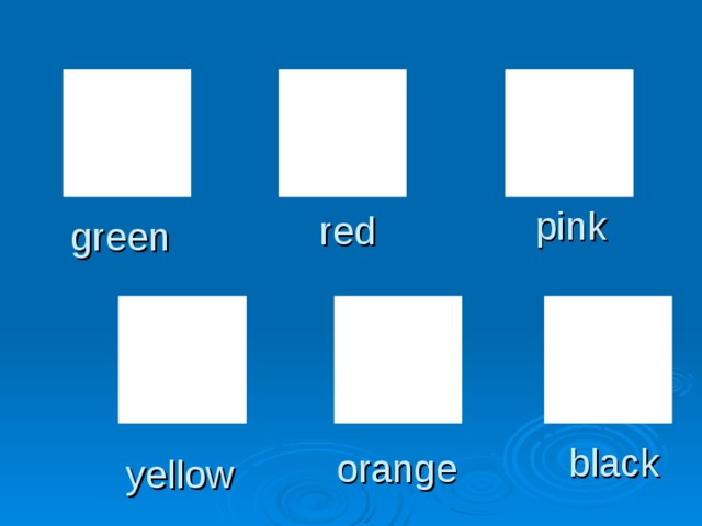 pink red green black orange yellow