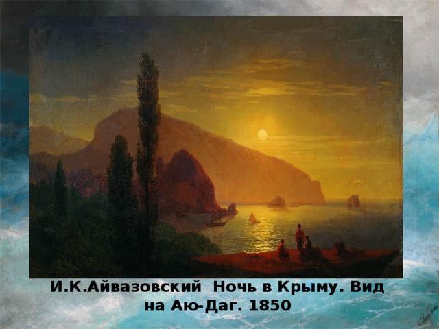 И.К.Айвазовский Ночь в Крыму. Вид на Аю-Даг. 1850