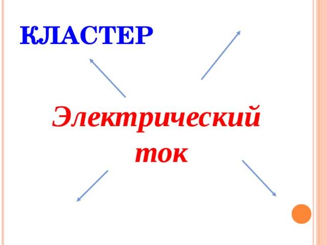 КЛАСТЕР Электрический ток