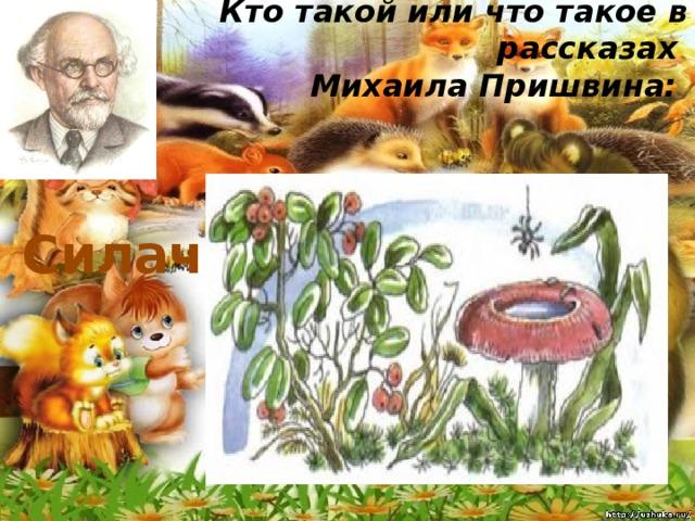 Кто такой или что такое в рассказах  Михаила Пришвина:   Силач