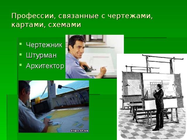 Профессии, связанные с чертежами, картами, схемами
