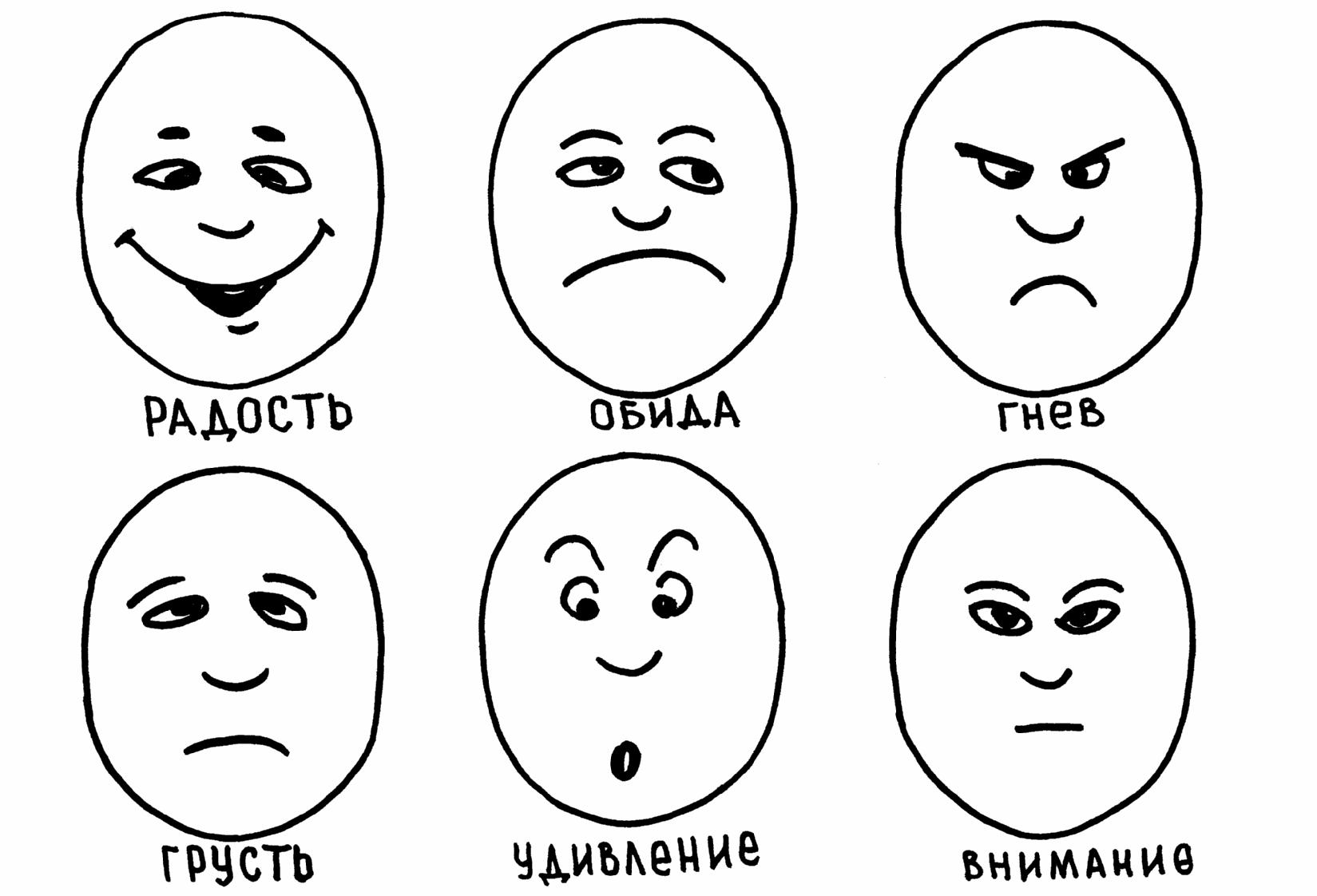 Картинки чувств и эмоций человека для детей
