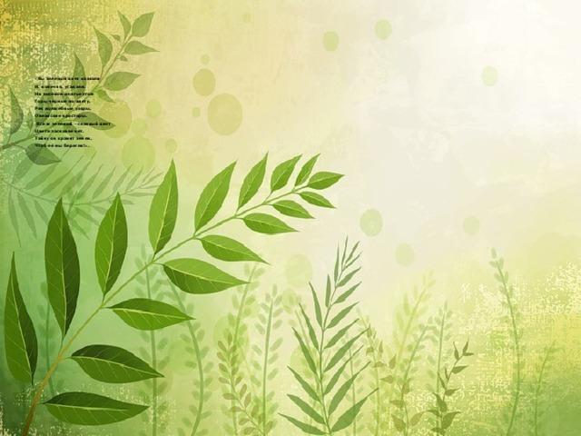 «Вы зелёный цвет назвали  И, конечно, угадали.  На зелёном платье этом  Горы чёрные по цвету,  Рек волшебные узоры,  Океанские просторы.  Всё ж зелёный – славный цвет  Цвета ласковее нет.  Тайну он хранит земли,  Чтоб её мы берегли!».