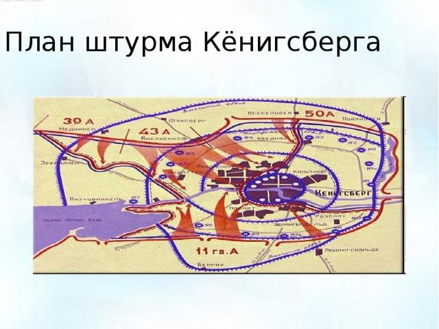 План штурма Кёнигсберга