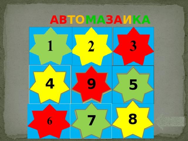 АВ ТО МА ЗА И КА 4 9 5 8 7