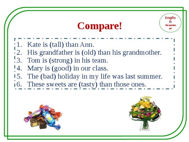 English Grammar Compare!