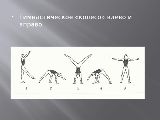 Гимнастическое «колесо» влево и вправо.