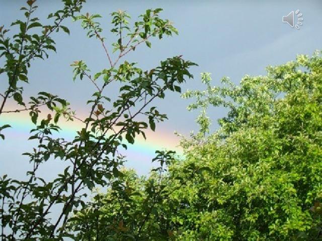 Не только о хорошей погоде думали люди, любуясь радугой. С радугой издавна связывались представления о благополучии, о счастье. Существовало поверье, будто в том месте, где радуга как бы уходит одним из своих концов в землю, можно, откопать горшок с золотом.