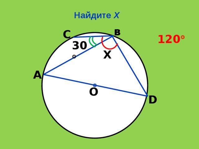 Найдите Х в С 120  30  Х А О D