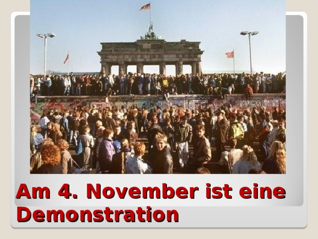 Am 4. November ist eine Demonstration