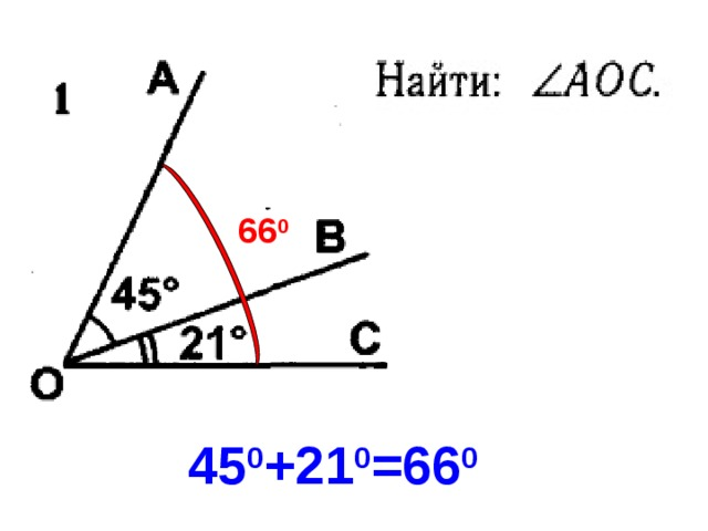 66 0 45 0 +21 0 =66 0