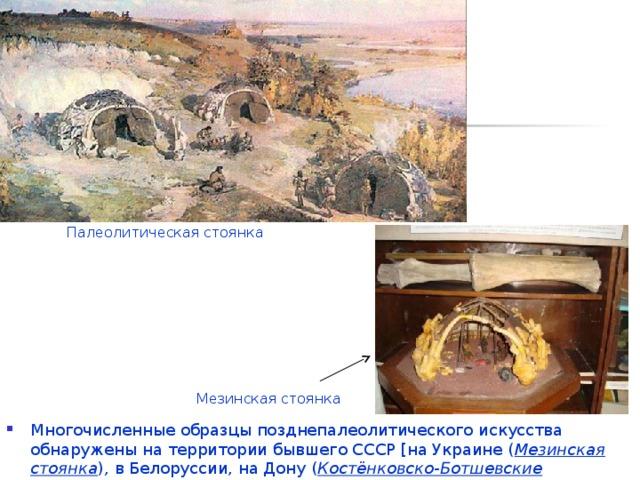 Палеолитическая стоянка Мезинская стоянка