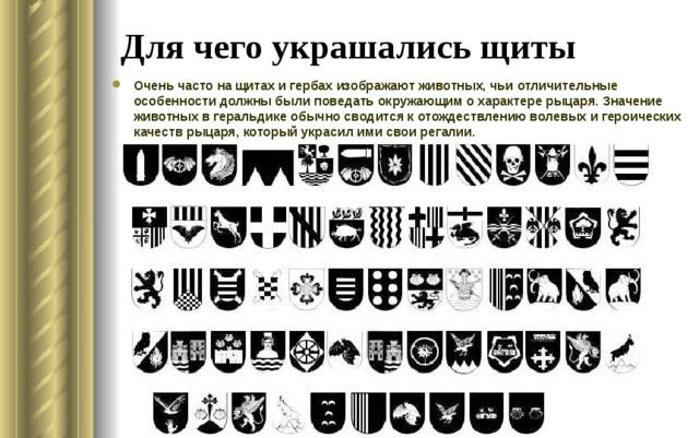 Для чего украшались щиты