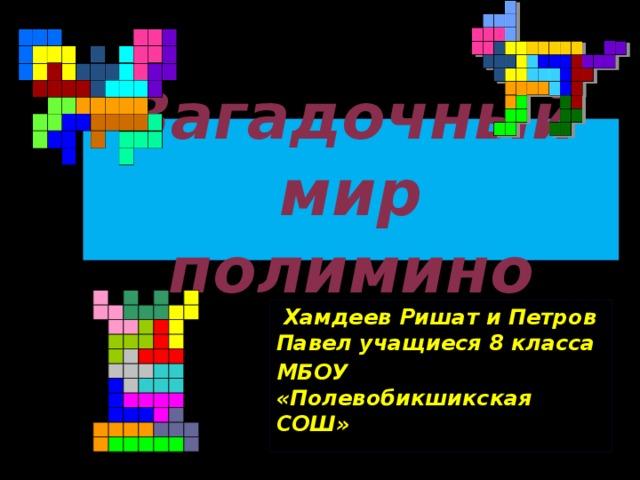 Загадочный мир полимино  Хамдеев Ришат и Петров Павел учащиеся 8 класса МБОУ «Полевобикшикская СОШ»