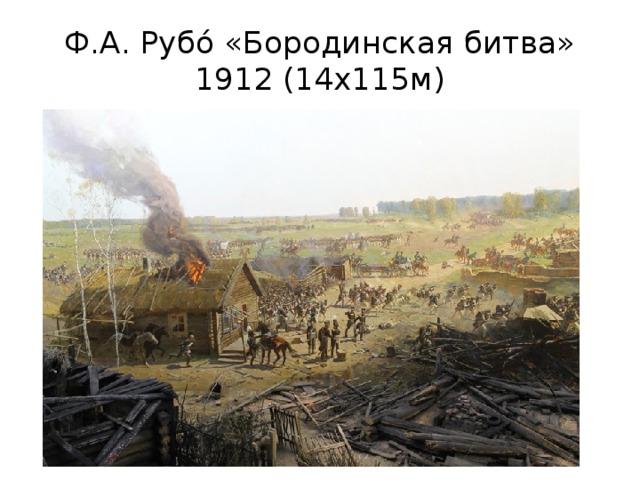 Ф.А. Рубо́ «Бородинская битва» 1912 (14х115м)