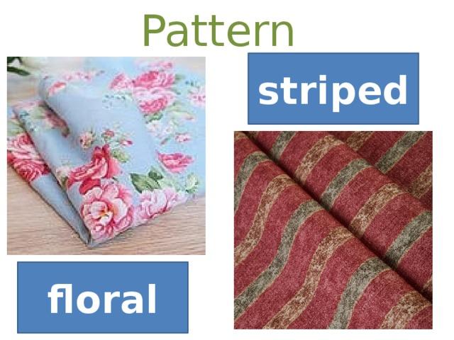 Pattern  striped floral