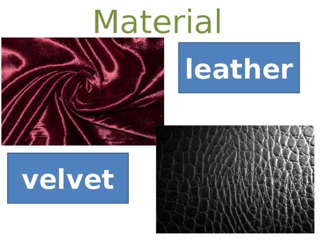 Material leather velvet