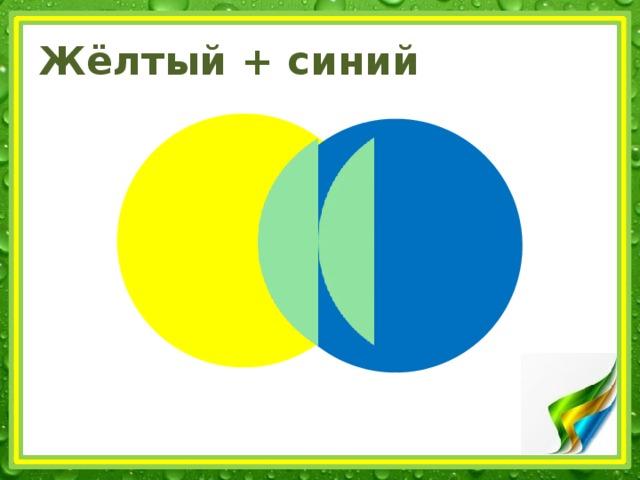 Жёлтый + синий