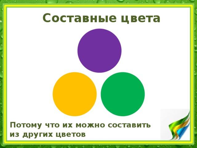 Составные цвета Потому что их можно составить  из других цветов