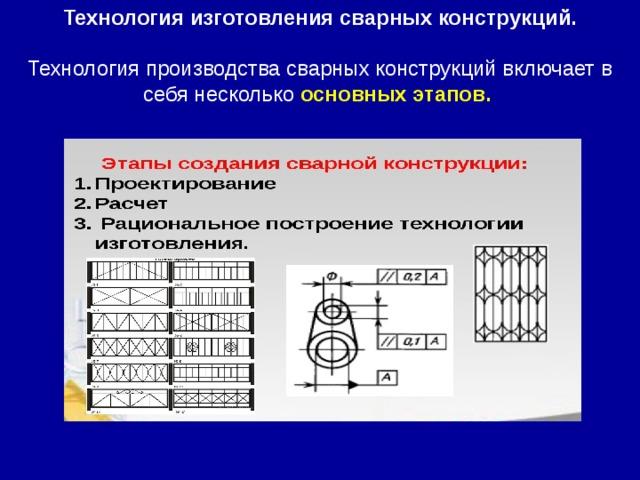 Технология изготовления сварных конструкций. Технология производства сварных конструкций включает в себя несколько основных этапов.