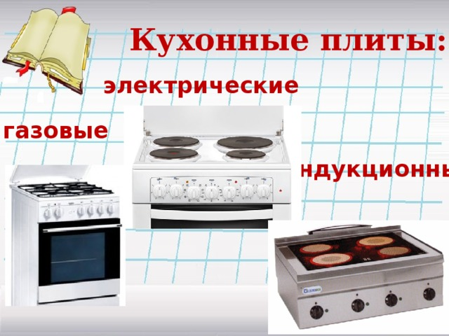 Кухонные плиты:  электрические газовые индукционные
