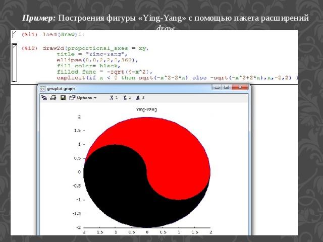 Пример:  Построения фигуры «Ying-Yang» с помощью пакета расширений draw