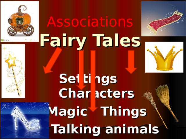 А ssociations  Fairy Tales  Settings Characters Magic Things  Talking animals