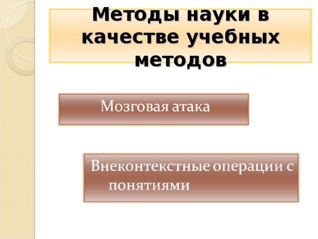 Методы науки в качестве учебных методов