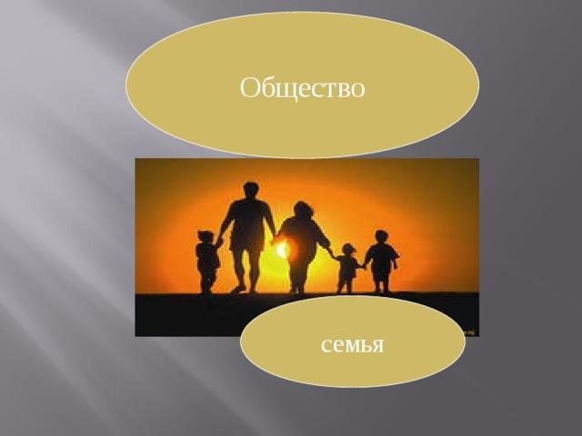 Общество семья