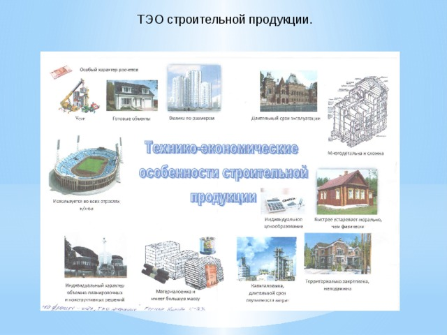 ТЭО строительной продукции.