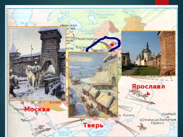 СТРАНИЦЫ ИСТОРИИ ОТЕЧЕСТВА Ярославль Москва Тверь