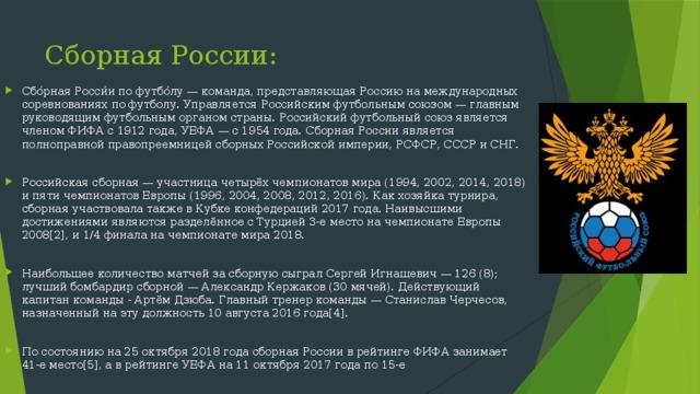 Сборная России: