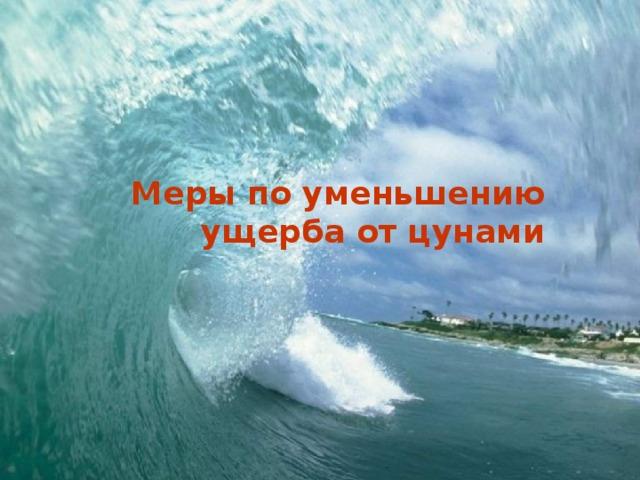 Меры по уменьшению ущерба от цунами