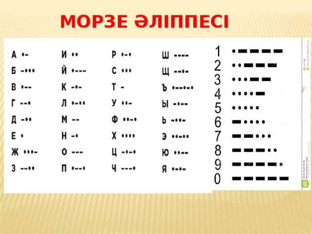 Морзе әліппесі