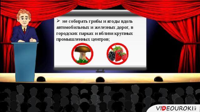 не собирать грибы и ягоды вдоль