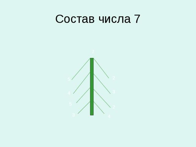 Состав числа 7 7 2 5 3 4 5 2 3 4