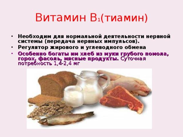 Витамин В 1 (тиамин)