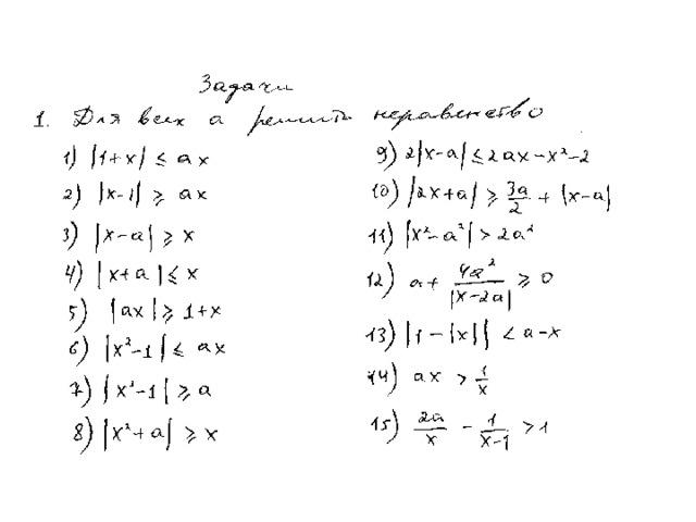 Решение задач с параметрами видеоуроки примеры решения задач линейного