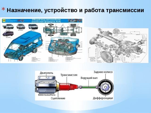 Назначение, устройство и работа трансмиссии
