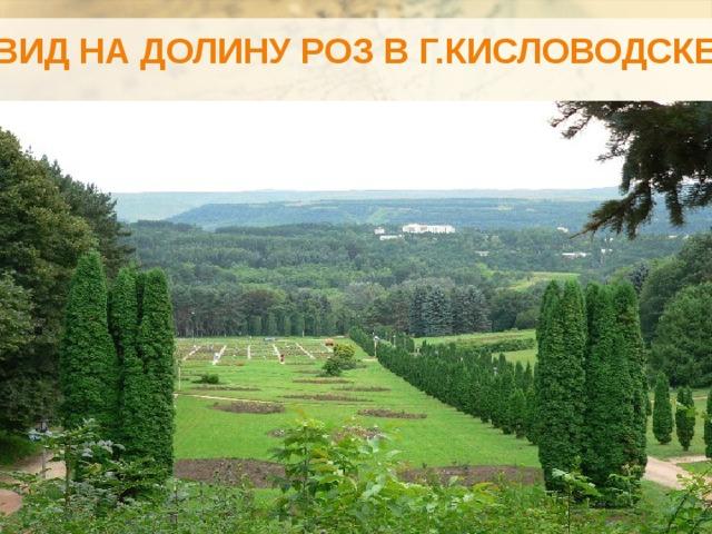 Вид на долину роз в г.Кисловодске